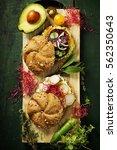 healthy vegetarian veggie... | Shutterstock . vector #562350643