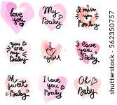 hand written phrase. vector... | Shutterstock .eps vector #562350757
