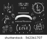a set of handmade text ... | Shutterstock .eps vector #562361707