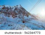 ski resort chamonix mont blanc. ... | Shutterstock . vector #562364773