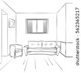 architecture project sketch.... | Shutterstock .eps vector #562365217