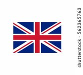 united kingdom flag vector... | Shutterstock .eps vector #562365763