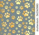 paw print seamless. traces of... | Shutterstock .eps vector #562365883
