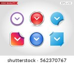 colored icon or button of down... | Shutterstock .eps vector #562370767