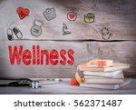 wellness concept. stack of... | Shutterstock . vector #562371487
