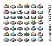 isometric vector 3d icon city... | Shutterstock .eps vector #562379593