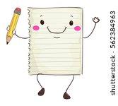 vector illustration of paper... | Shutterstock .eps vector #562384963