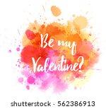 watercolor imitation splash... | Shutterstock .eps vector #562386913