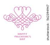 vector valentine's day  wedding ... | Shutterstock .eps vector #562394947