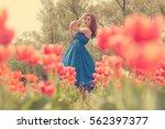 dreammy woman portrait in... | Shutterstock . vector #562397377