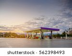 Gas Station With Clouds And Sk...