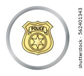 police officer badge icon in... | Shutterstock .eps vector #562401343