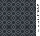 black seamless texture with... | Shutterstock .eps vector #562402633