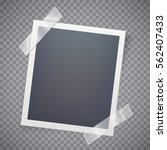 retro photo frame attached with ... | Shutterstock .eps vector #562407433