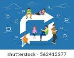 repost symbol concept... | Shutterstock .eps vector #562412377