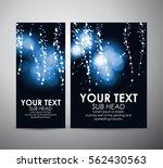 abstract blue bokeh effect... | Shutterstock .eps vector #562430563