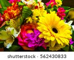 Stock photo bouquet of flowers bouquet of flowers roses gerbera flowers carnations 562430833
