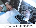 medical doctor hand working... | Shutterstock . vector #562431223
