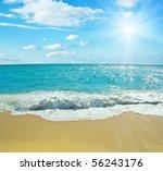 Beautiful Tropical Beach And...