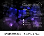 vector black blue purple... | Shutterstock .eps vector #562431763