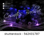 vector black blue purple... | Shutterstock .eps vector #562431787