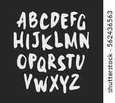 handcrafted vector font  vector ... | Shutterstock .eps vector #562436563