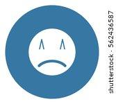sad icon   flat design  glyph...   Shutterstock .eps vector #562436587