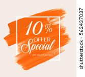 sale special offer 10  off sign ... | Shutterstock .eps vector #562437037