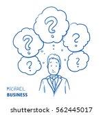unhappy modern business man ... | Shutterstock .eps vector #562445017