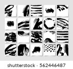 set of 20 black ink brushes... | Shutterstock . vector #562446487