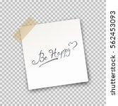 paper sheet pin on sticky tape... | Shutterstock .eps vector #562453093