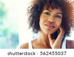 portrait of smiling young black ... | Shutterstock . vector #562455037