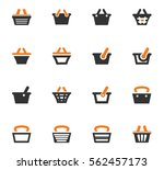 shopping bascket icon set for... | Shutterstock .eps vector #562457173