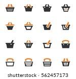 shopping bascket icon set for... | Shutterstock .eps vector #562457173