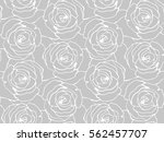 seamless floral pattern with... | Shutterstock .eps vector #562457707