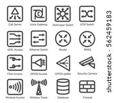 network equipment icon set  ... | Shutterstock .eps vector #562459183