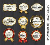 luxury premium golden labels... | Shutterstock .eps vector #562463197