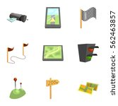 gps and navigation icons set.... | Shutterstock .eps vector #562463857
