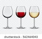 set transparent vector wine... | Shutterstock .eps vector #562464043