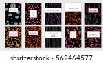 universal invitation templates. ... | Shutterstock .eps vector #562464577
