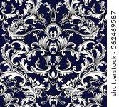 vintage damask seamless pattern ... | Shutterstock .eps vector #562469587