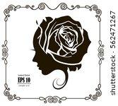 conceptual logo silhouette of a ... | Shutterstock .eps vector #562471267