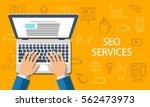 seo services concept. flat...   Shutterstock .eps vector #562473973