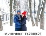 portrait of pretty young happy...   Shutterstock . vector #562485607