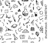 hand drawn set of science... | Shutterstock .eps vector #562487647