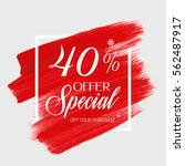 sale special offer 40  off sign ... | Shutterstock .eps vector #562487917