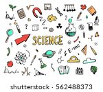 hand drawn set of cartoon... | Shutterstock .eps vector #562488373