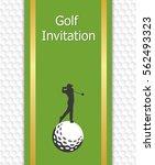 golf tournament invitation...   Shutterstock .eps vector #562493323