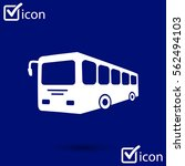 bus sign icon. public transport ... | Shutterstock .eps vector #562494103