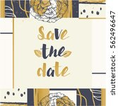 save the date wedding... | Shutterstock .eps vector #562496647